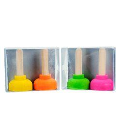 RADIERER Gummistampfer 2er Set, farblich sortiert