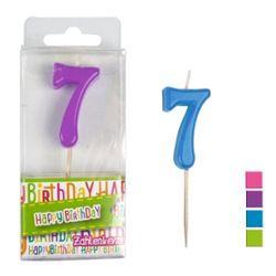 HAPPY BIRTHDAY Zahlenkerze 7