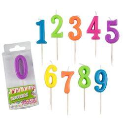 HAPPY BIRTHDAY Zahlenkerze 0-9 sortiert