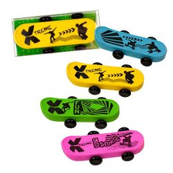 RADIERER Skateboard, 4-fach sortiert