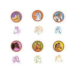 Pferderassen Stempel selbstfärbend,6-fach sortiert