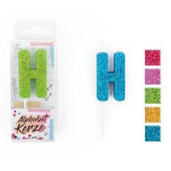 FESTIVAL FEELINGS Alphabet Kerze Glitzer H, 5-f. sort.