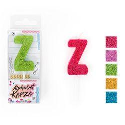 FESTIVAL FEELINGS Alphabet Kerze Glitzer Z, 5-f. sort.