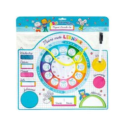 Learning clock set, magnetic, 51 pieces