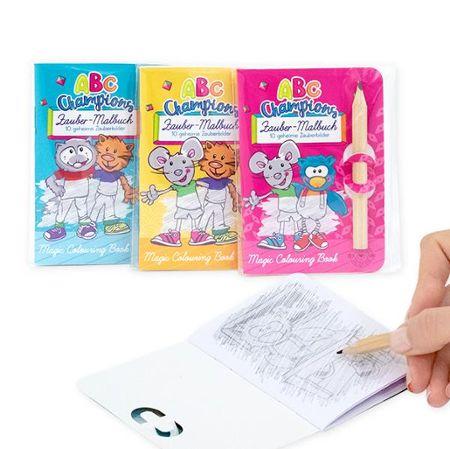 ABC CHAMPIONS Zauber-Malbuch mit Bleistift, 3-fach sortiert