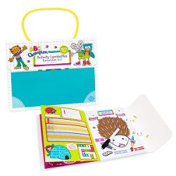 Activity learning case, letters A-Z, wipe & walk away, 52 pages