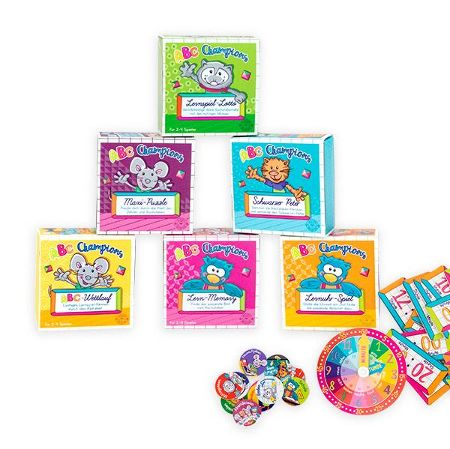 ABC CHAMPIONS Lernspiele Mini-Box, 6-fach sortiert