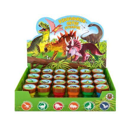 Dinosaurier-Arten Stempel selbstfärbend, 6-fach sortiert