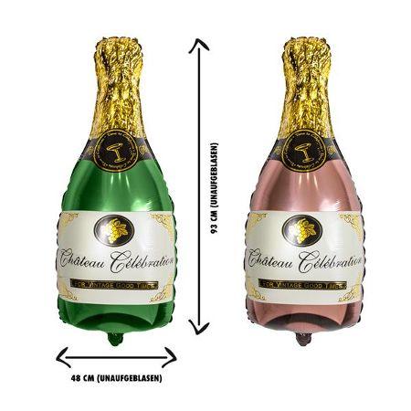 PARTY Folienballon Champagnerflasche 93 x 48 cm, 2-fach sortiert