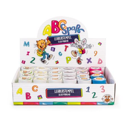 ABC SPASS Lehrerstempel selbstfärbend, 8-fach sortiert