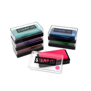 Stamp pad, 58 x 28mm, assortment of 6